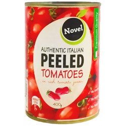Novel Whole Peeled Tomatoes 400g