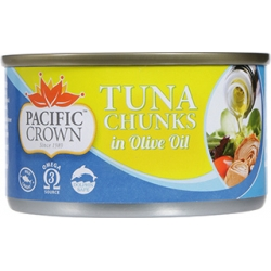 Pacific Crown Tuna Chunks in Olive Oil
